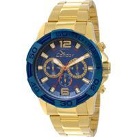 70b6c77526251 Relógio Condor Masculino Bicolor - Masculino-Dourado
