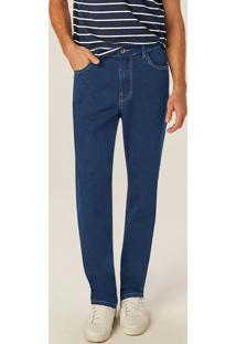 Calça Azul Escuro Tradicional Flex Jeans