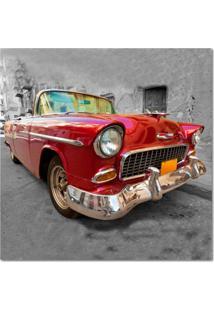 Quadro Impressão Digital Carro Vermelho 45X45 Uniart