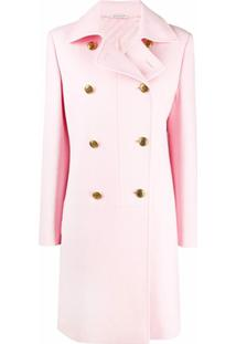 Givenchy Double-Breasted Coat - Rosa