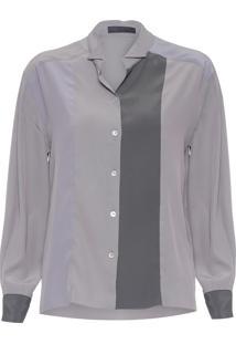 Camisa Feminina Multicolor - Cinza