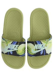 dee0dd71226d8 Chinelo Nike Benassi Jdi Print - Slide - Feminino - Amarelo Esc/Azul