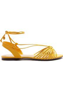 Sandália Tiras Amarração Amarela | Anacapri