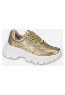 Tênis Feminino Chunky Sneaker Metalizado Vizzano