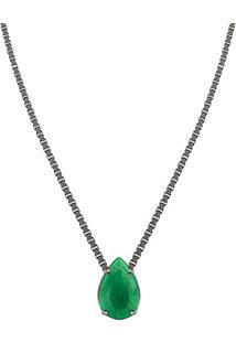 Colar Em Prata Com Jade Verde