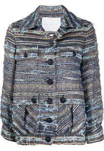 Giada Benincasa Jaqueta De Tweed Com Bolso - Azul