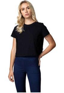Camiseta Femininca Com Renda Preto