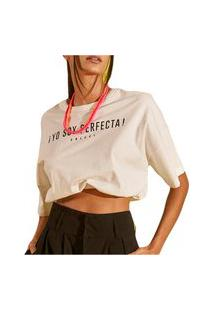 Camiseta Colcci Luiza Off Shell Feminino