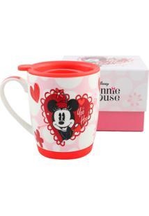Caneca Mickey E Minnie Branca E Vermelha