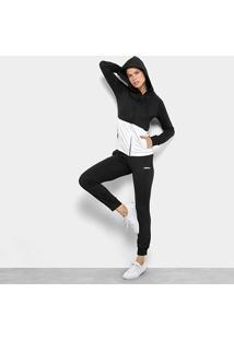 Agasalho Adidas Detalhe Logo Wts Lin Hood Feminino - Feminino