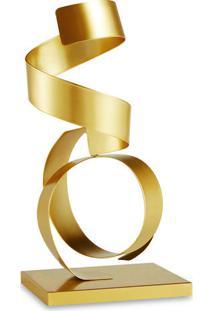 Escultura Decorativa- Dourada- 27,5X12,5X10Cm- Mmart