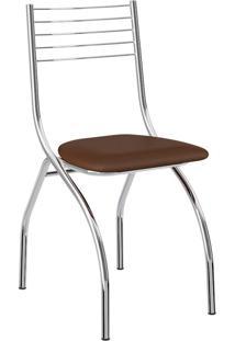 Cadeira Cromada Fred Cacau