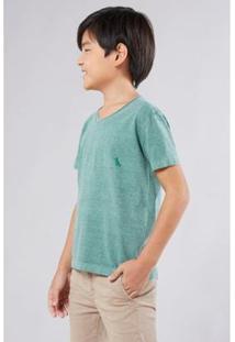 Camiseta Infantil Limo Pica-Pau Bordado Reserva Mini Masculina - Masculino-Verde