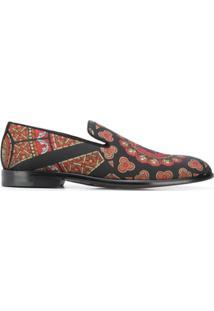 Dolce & Gabbana Printed Slippers - Preto