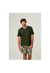 Pijama Recco De Viscose Stretch E Supermicro