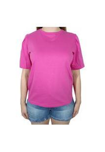 Camiseta Colcci Logo Rosa