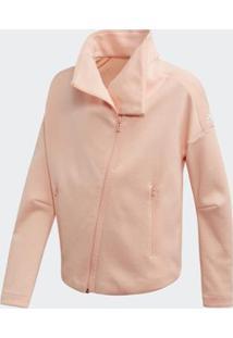 Jaqueta Infantil Id Htr Co Yg Adidas Feminina - Feminino-Rosa