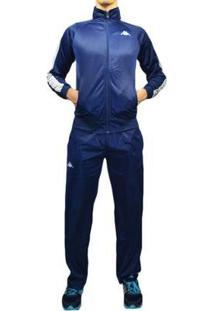 Agasalho Kappa Sportswear Tiziano Elanca Masculino - Masculino-Azul Escuro