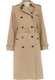 Valentino Trench Coat Com Bolsos - Neutro