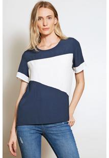Camiseta Forum Color Block Azul