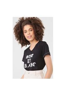 Camiseta Mob Noir Et Blanc Preta