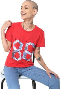 Camiseta Coca-Cola Jeans Estampada Vermelha