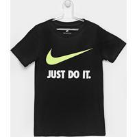 Camiseta Infantil Nike Jdi Swoosh Tee Yth - Masculino-Preto d1dde23386b14