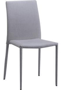Cadeira Glam Em Linho - Bege