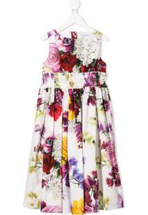 Dolce & Gabbana Kids Vestido Com Estampa - Neutro