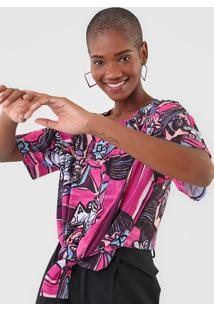 Camiseta Lanã§A Perfume Amarraã§Ã£O Rosa - Rosa - Feminino - Poliã©Ster - Dafiti