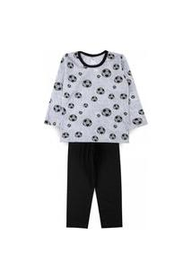 Pijama Infantil Futebol Cinza 2821 - Kappes