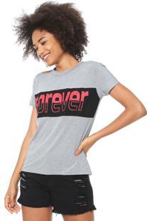 Camiseta Fiveblu Forever Cinza