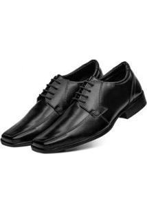 Sapato Social 3Ls3 Tamanho Especial Masculino - Masculino-Preto