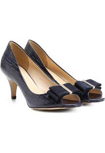 86a02e29d Peep Toe Salto Baixo Tiffany Co feminino   Shoes4you