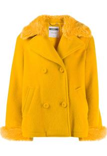 Moschino Double-Breasted Cropped Jacket - Amarelo