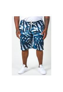 Bermuda De Moletinho Com Estampa Plus Size Azul Bermuda De Moletinho Com Estampa Plus Size Azul M Kaue Plus Size
