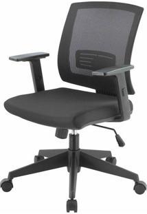 Cadeira Escritorio Evo Tela Mesh Preta Com Rodizios - 41008 - Sun House