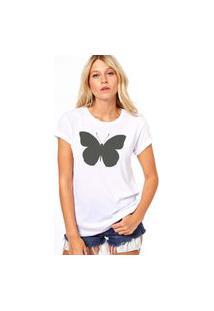 Camiseta Coolest Borboleta Branco