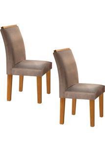 Conjunto Com 2 Cadeiras Sevilha Ypê E Bege