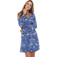 36080d4649 Dafiti. Vestido Enfim Curto Estampado Azul