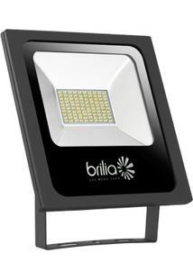 Refletor Led 50W 6500K Ip65 Bivolt Slim Brilia