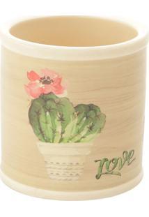Cachepot Round Desert Cactus- Bege & Verde- 7Xã˜7,5Cmurban