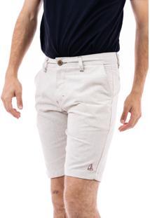 Bermuda Porto & Co Tecido Comfort Palha
