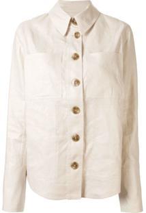 Lee Mathews Buttoned Shirt Jacket - Branco
