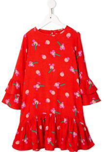 Stella Mccartney Kids Vestido Com Estampa Gráfica - Laranja