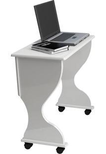 Mesa Dobrável Para Computador C27 Branco Brilho