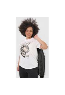 Camiseta Colcci Caveiras Off-White