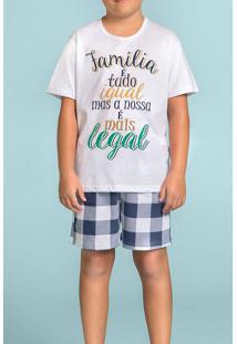 Pijama Para Menino Curto Família É Tudo 120374 Lua Encantada
