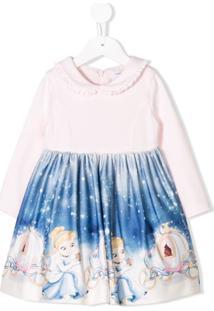 Monnalisa Vestido Estampado 'Cinderella' - Rosa
