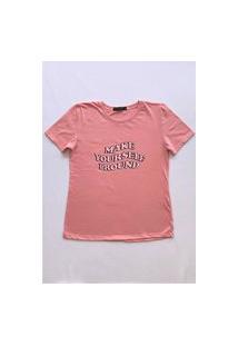 Camiseta Gorgeous Make Pround Rosa